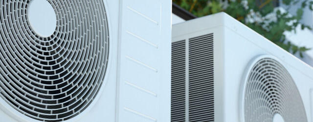 Air conditioning units in city