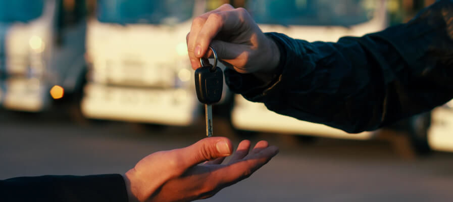 Passing keys while purchasing a commercial vehicle