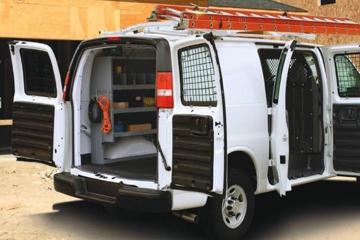 Masterack upfit in GM van
